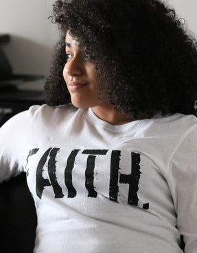 Women's FAITH. Long Sleeve T-Shirt (White)