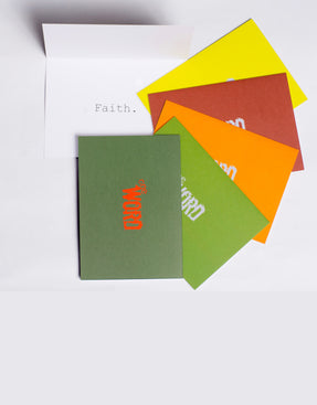 the word changes logo FAITH pack - Greeting Cards