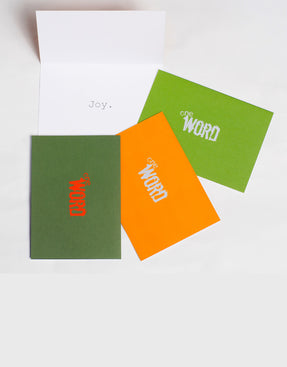 the word changes logo JOY pack - Greeting Cards