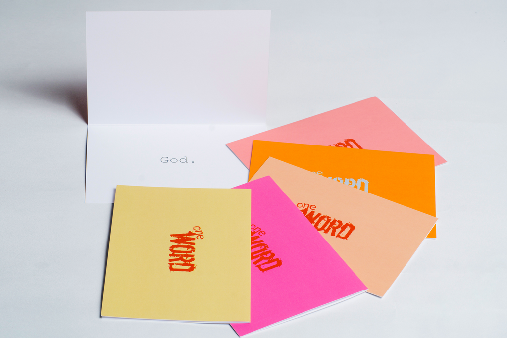 the word changes logo GOD pack - Greeting Cards