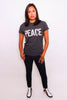 Unisex PEACE. T-Shirts (GREY)
