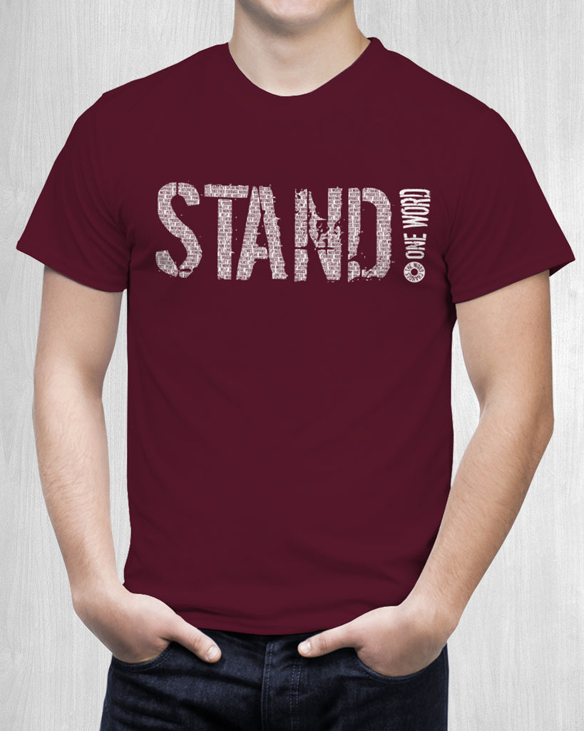 "Men's ""STAND!"" for change shirt -Speak! Act! Stand!"