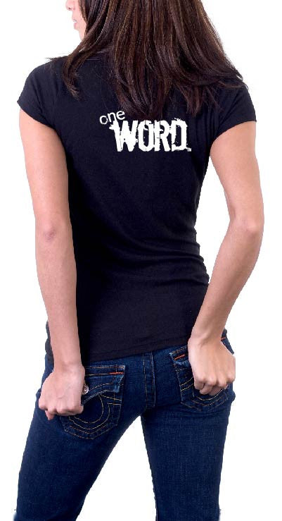 B&W Women's oneWORD ENCOURAGE T-shirt