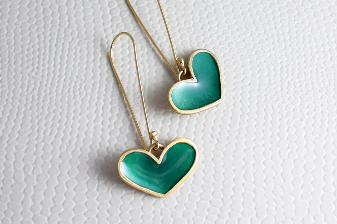 Golden Hearts Earring