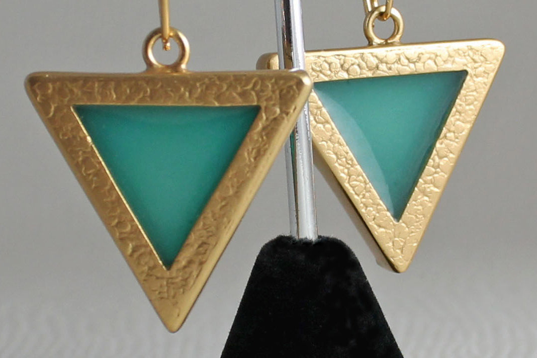 Golden Blue Earrings