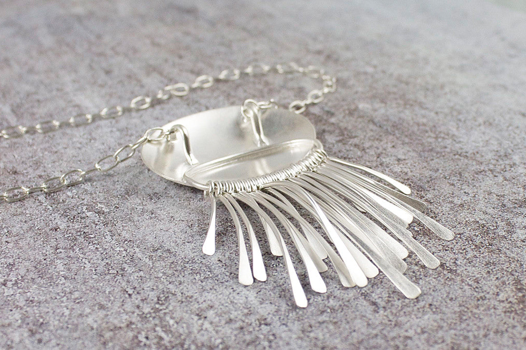fringe element pendant