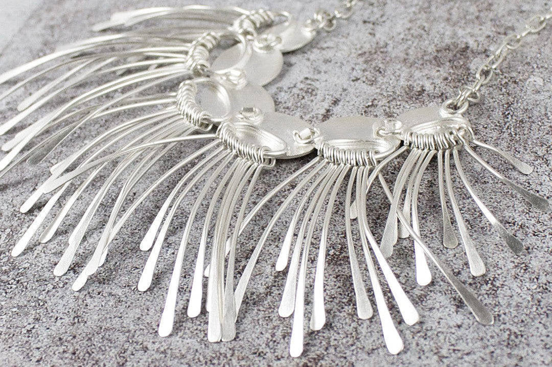 fringe element necklace
