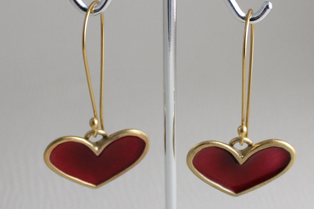 Golden Hearts Red