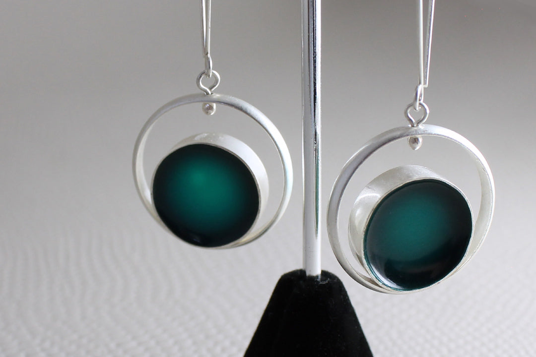 Deep Emerald Earring