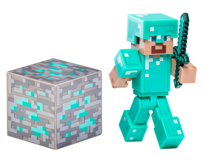 Diamond Steve Figure with Accessory
