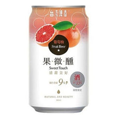 Limited Edition - Grapefruit Sweet Touch Taiwan Beer - 330ml x 24 Cans Box