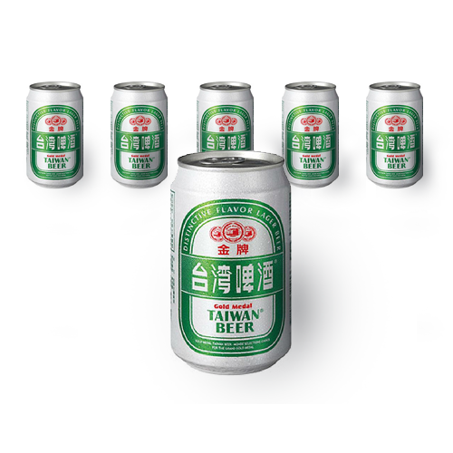 Gold Medal Taiwan Beer - 330ml x 6 Cans Box