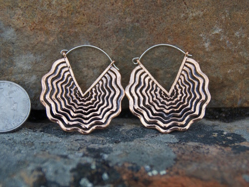 Copper Soundwave Earrings