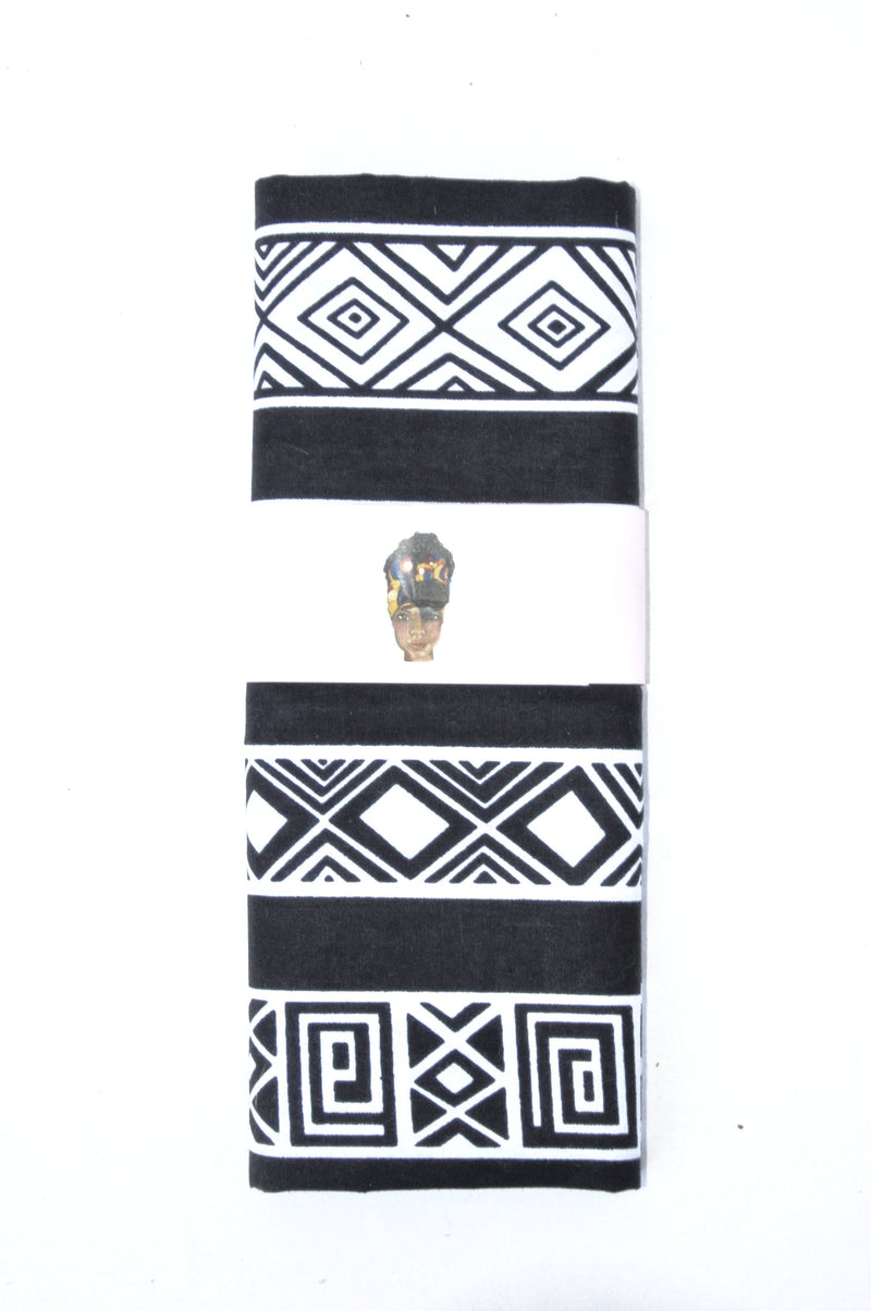 """White on Black"" headwrap"
