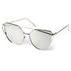 Cat Eye Sunglasses (Silver/Mirrored)