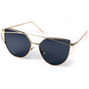 Cat Eye Sunglasses (Gold/Black)