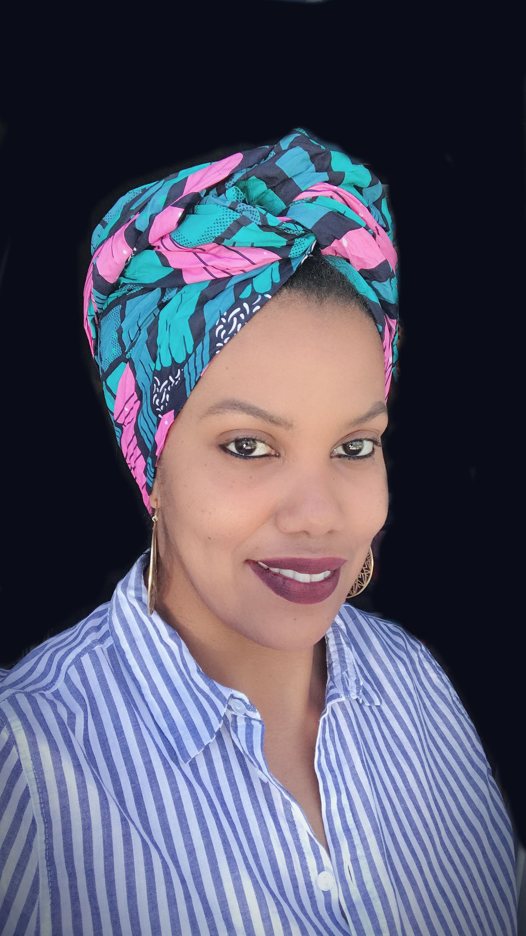 """Spring Tracks"" headwrap"