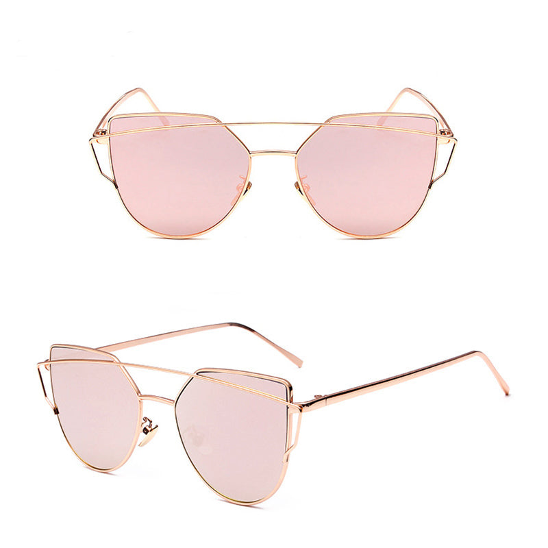 Cat Eye Sunglasses (Gold/Rose)