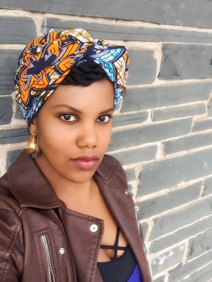 """Burst"" headwrap"