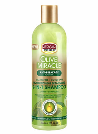 African Pride Olive Miracle 2-in-1 Shampoo Conditioner 12oz