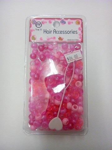 Hair Beads Pink Assorted - ALL THINGS HAIR LTD