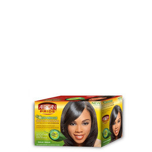 African Pride Olive Miracle Deep Conditioning Anti-Breakage No-Lye Relaxer Kit - Regular - ALL THINGS HAIR LTD