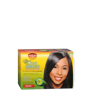 African Pride Olive Miracle Deep Conditioning Anti-Breakage No-Lye Relaxer Kit - Super - ALL THINGS HAIR LTD