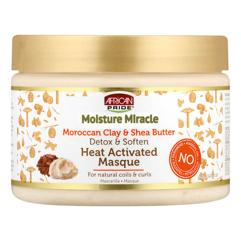 African Pride Moisture Miracle Heat Activated Mask- Moroccan Clay and Shea Butter - ALL THINGS HAIR LTD