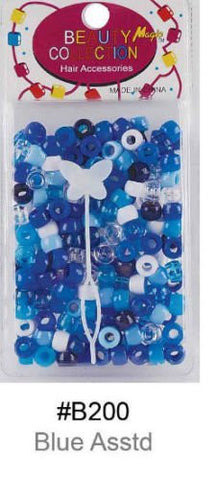 Hair Beads Blue Assorted - ALL THINGS HAIR LTD