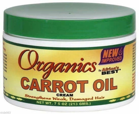 Africa's Best Organics Carrot Oil Cream 7.5oz - ALL THINGS HAIR LTD