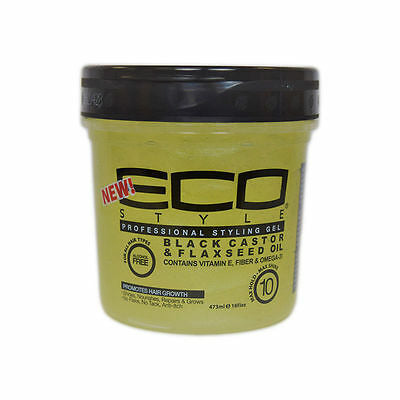Eco styler Black castor & Flaxseed Oil styling Gel 16oz