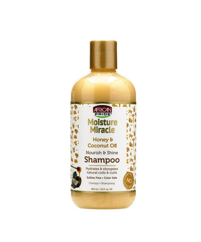 African Pride Moisture Miracle Honey & Coconut Oil - Nourish and Shine SHAMPOO - ALL THINGS HAIR LTD