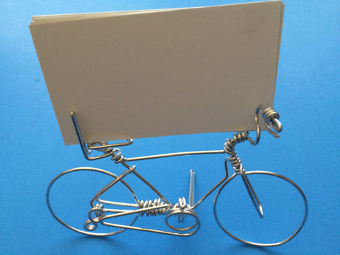 Creative Bicycle Business Card Holder on Desk