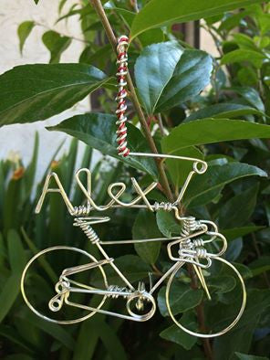 Custom Name Christmas Bicycle Ornament