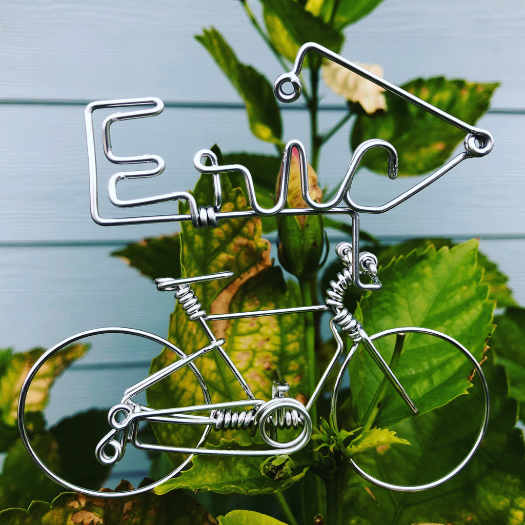 Custom Name Bicycle Cycling Gifts Cyclist Bike Ornaments Biking Gift