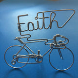 FAITH Word Bicycle Art Decor - Script Words FAITH Letter