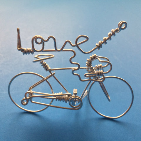 LOVE Script Word Bicycle Art Decor