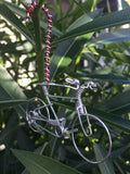 "Handmade ""Candy Cane"" Bicycle - Christmas Decorations Ornament"