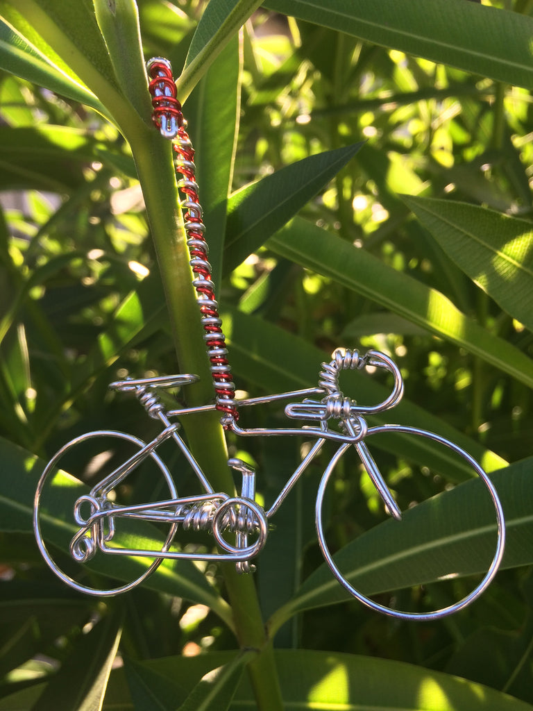 Handmade Candy Cane Bicycle Ornament Bike Decor - Unique Christmas ...