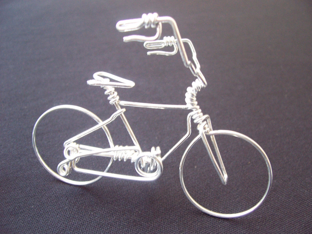 Wire Art High Handlebar Bicycle Wire Art Sculpture As Unique Cycling Gifts
