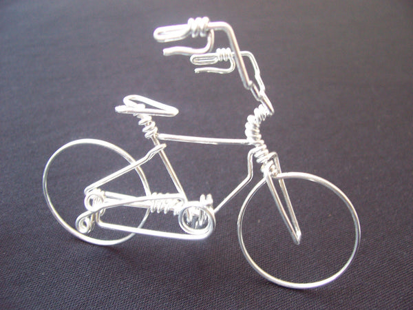 High Handlebar Bicycle Wire Art Sculpture As Unique