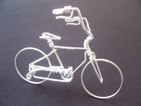High Handlebar Bicycle Wire Art Sculpture