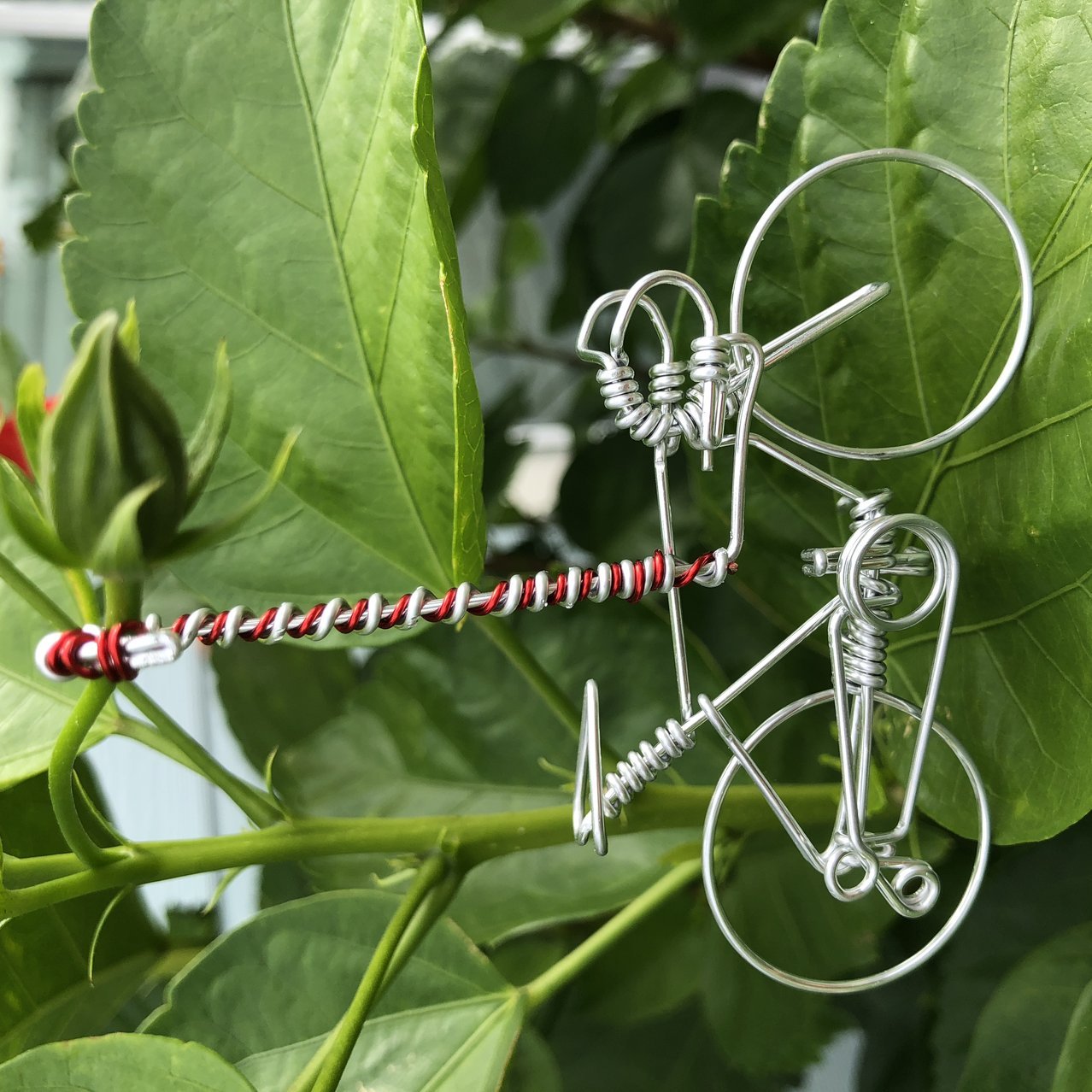 Candy Cane Christmas Decoration Bicycle Ornament