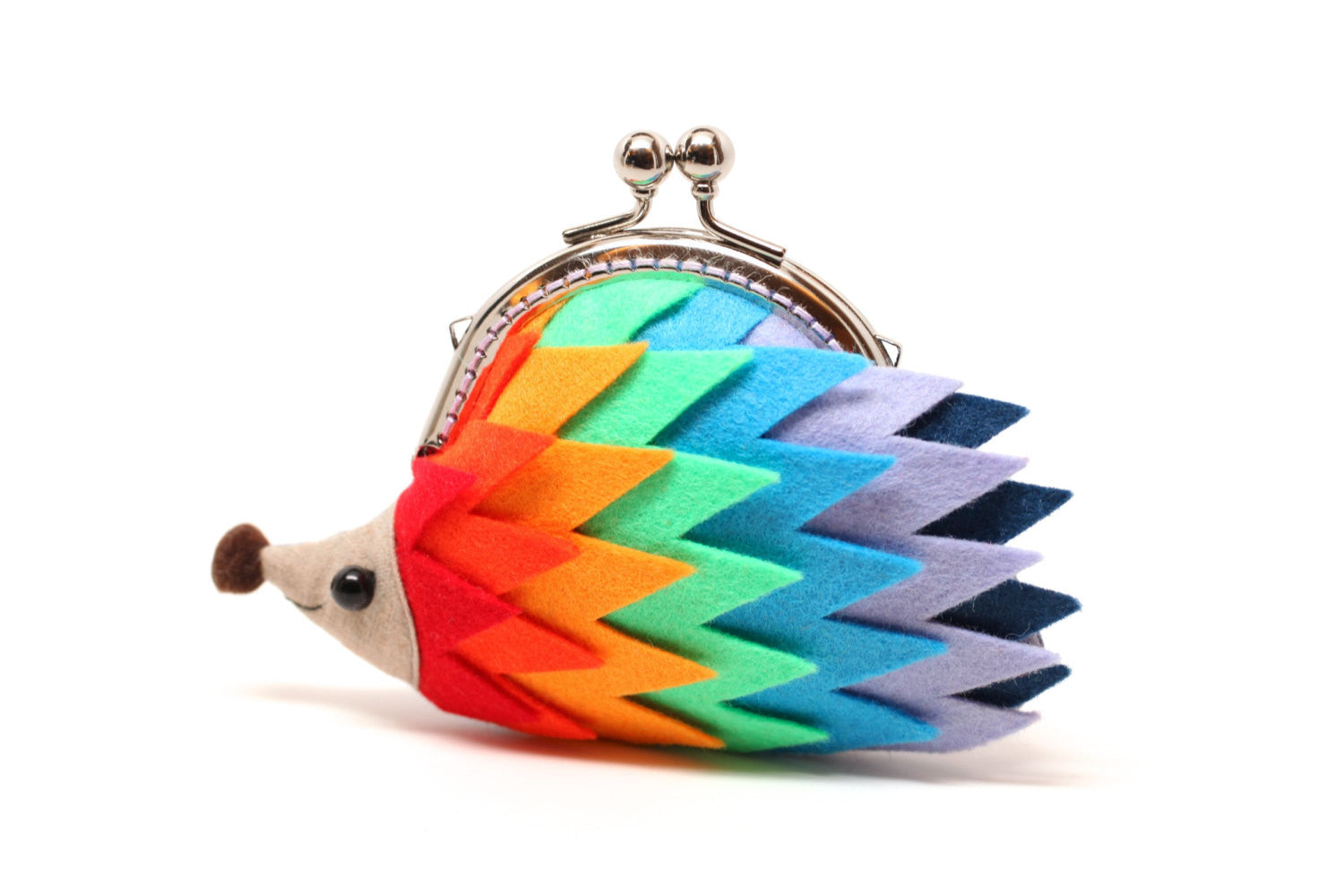 "Color palette hedgehog clutch purse ""Harmony"""