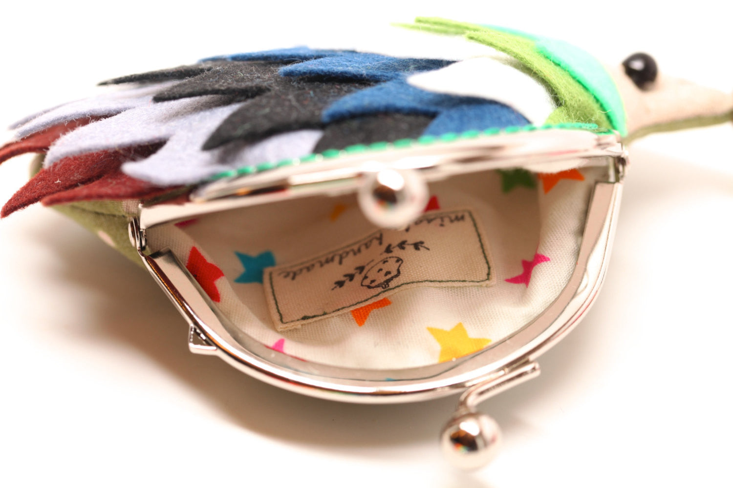 "Color palette hedgehog clutch purse ""Peace"""