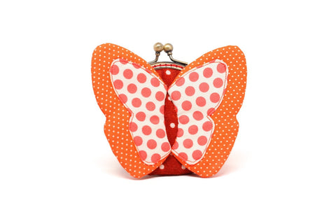 My secret orange butterfly coin purse
