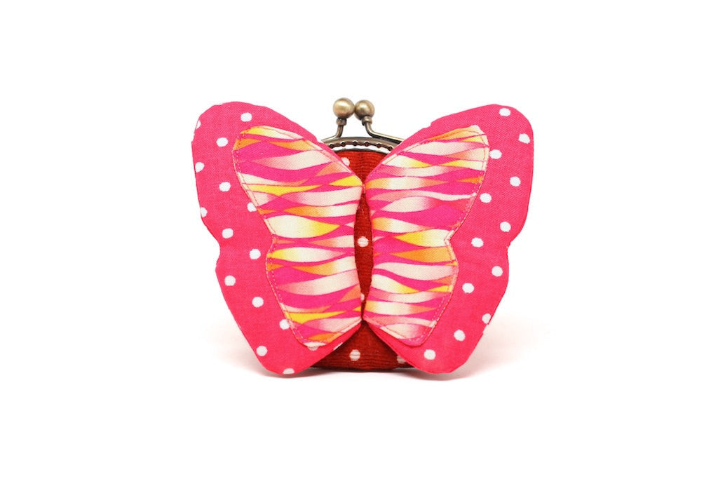 My secret red butterfly coin purse