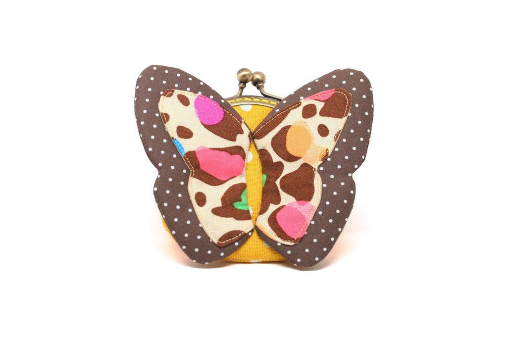 My secret brown butterfly coin purse