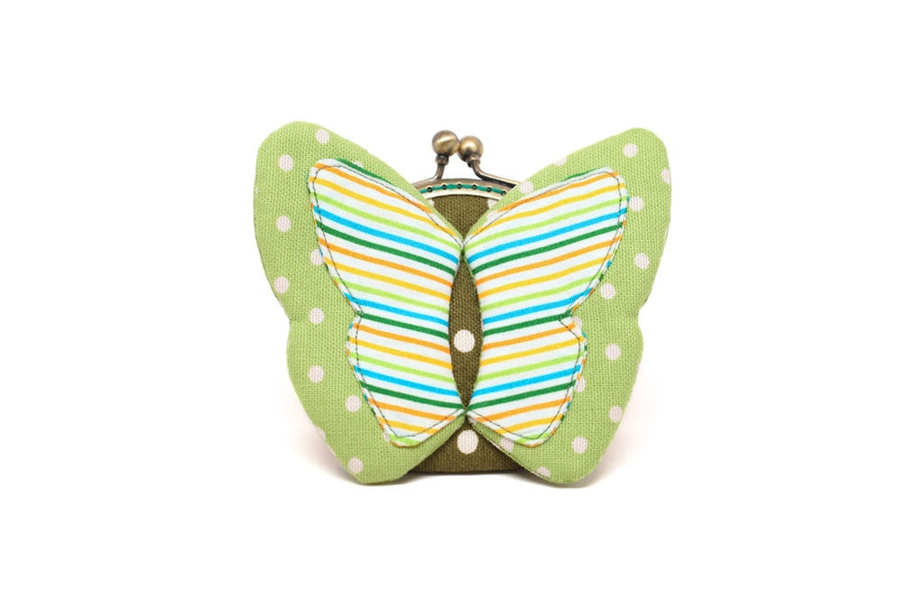 My secret lime butterfly coin purse