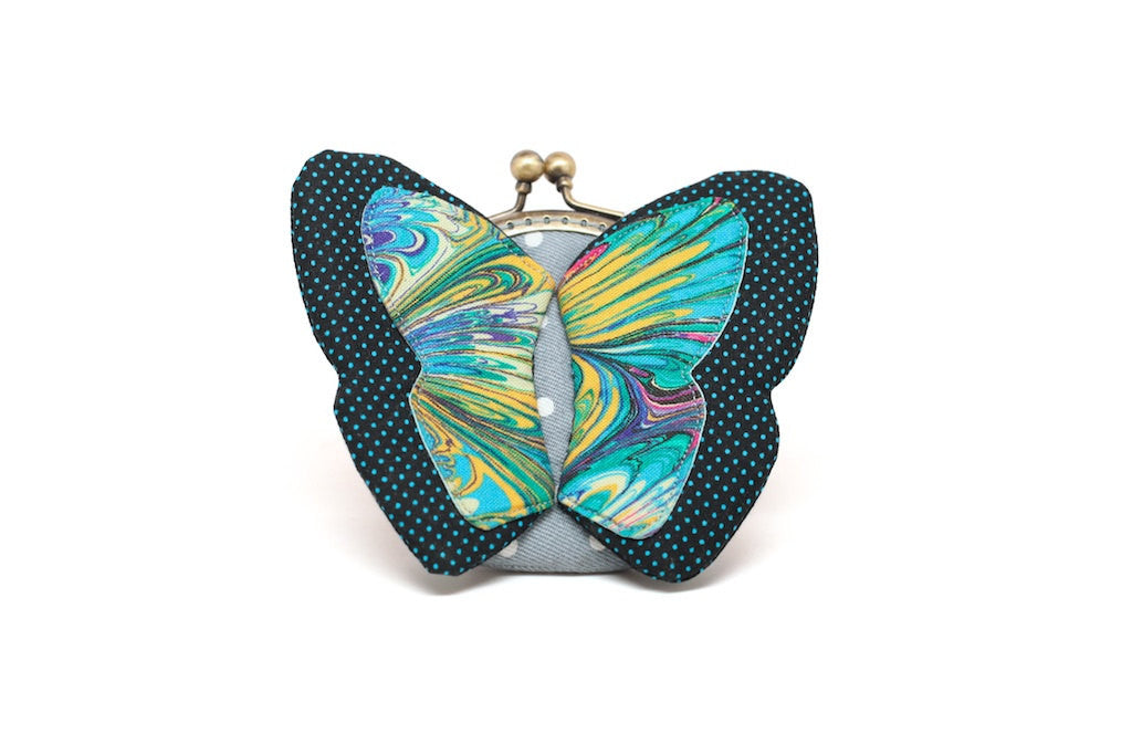 My secret blue butterfly coin purse